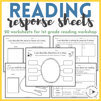 1st Grade Reading Workshop Journal Response Pack- Common Core Reading Literature