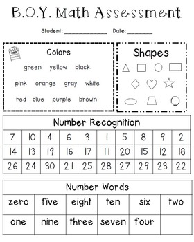 1st Grade Reading and Math Assessment Bundle