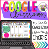 1st Grade Reading and Organizing Charts for Google Classro