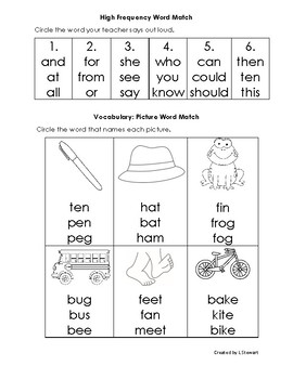 1st Grade Reading and Phonics Assesments