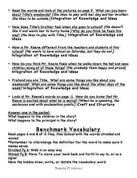 1st Grade ReadyGEN Unit 2 Module A Lesson 2 Outline