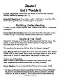 1st Grade ReadyGEN Unit 2 Module A Lesson 6 Outline
