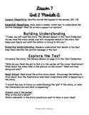 1st Grade ReadyGEN Unit 2 Module A Lesson 7 Outline