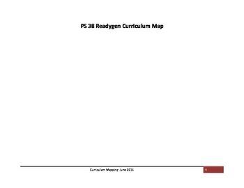1st Grade ReadyGen Curriculum Map