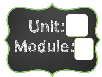 1st Grade ReadyGen Focus Wall Units 1-6