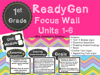 1st Grade ReadyGen Focus Wall Units 1-6