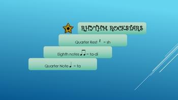 1st Grade Rhythm Rockstars Slideshow