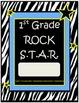 1st Grade Rock Star Binder-Folder Covers with Zebra Print