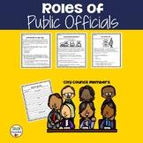 1st Grade: Roles of Public Officials