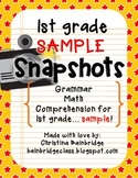 1st Grade SNAPSHOTS Sample CCSS Aligned Assessments {Try It! Sample pack}