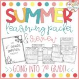 1st Grade SUMMER packet review