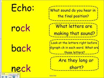 1st Grade Saxon Phonics Lesson 29 Spelling with ck and Final k