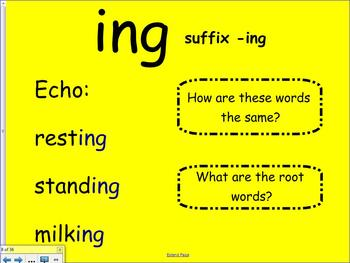 1st Grade Saxon Phonics Lesson 32 Digraph ng and Suffix -ing Smartboard Lesson