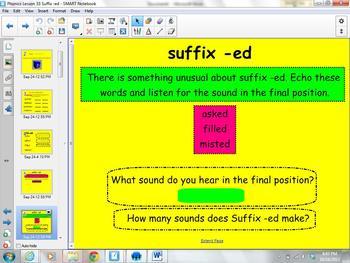 1st Grade Saxon Phonics Lesson 33 Suffix ed