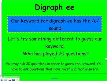 1st Grade Saxon Phonics Smartboard Lesson 34 Digraph ee