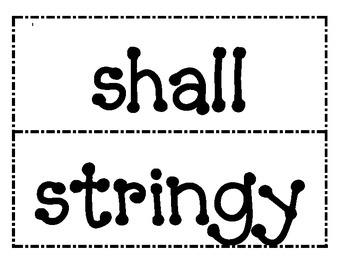 1st Grade Saxon Phonics Spelling List 14 Word Wall Words