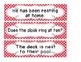 1st Grade Saxon Spelling Lists 1-25 Red Polka Dot Sentence Cards