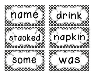 1st Grade Saxon Spelling Lists 11-15 Polka Dot Word Cards