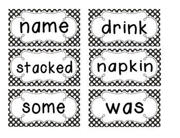 1st Grade Saxon Spelling Lists 11-15 Polka Dot Word Cards
