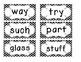 1st Grade Saxon Spelling Lists 16-20 Chevron Word Cards