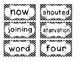 1st Grade Saxon Spelling Lists 21-25 Chevron Word Cards
