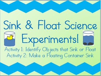 Sink and Float Science Activities!