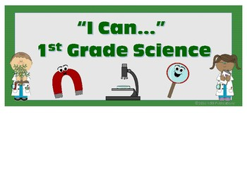 1st Grade Science I Can...Posters for VA SOL's