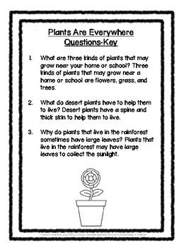 1st Grade Science Buddy Reading: Plants