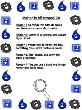1st Grade Science Buddy Reading: Matter (SAMPLE)