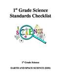 1st Grade Science Standards Checklist - Ohio
