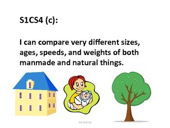 1st Grade Science Standards for Posting--Kid Friendly