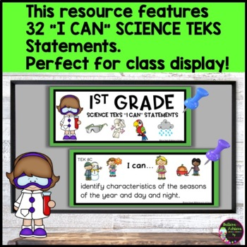 1st Grade Science TEKS I CAN Statements (*** New Streamlined TEKS!)