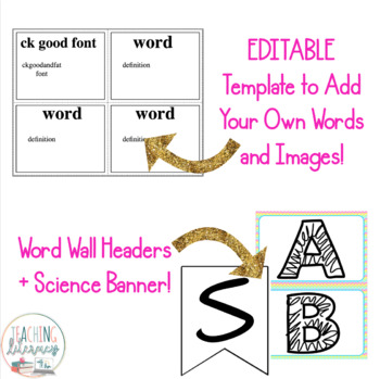 Inspire Science and NGSS Grade 1 Vocabulary Word Wall
