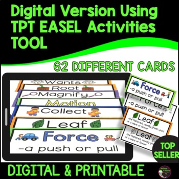 1st Grade Science Vocabulary Word Wall BUNDLE (For all year!)