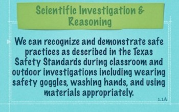 """1st Grade Science """"We Can"""" Posters Texas TEKS"""