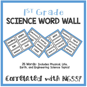 1st Grade Science Word Wall- NGSS Aligned