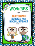 1st Grade Science and Social Studies for Wonders 2014