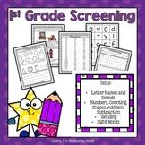 1st Grade Screening