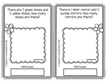 1st Grade September Math Word Problems