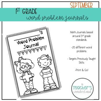 1st Grade September Math Word Problems