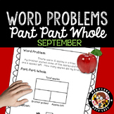 1st Grade September Word Problems - Part Part Whole