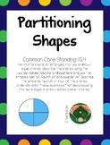 1st Grade Shapes to Partition