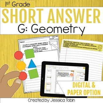 Geometry- 1st Grade Math Short Answer Word Problems