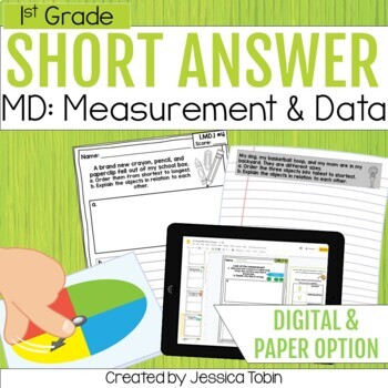 Measurement and Data- 1st Grade Math Short Answer Word Problems