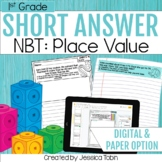 1st Grade Math Word Problem- Numbers and Operations in Base Ten NBT, Place Value