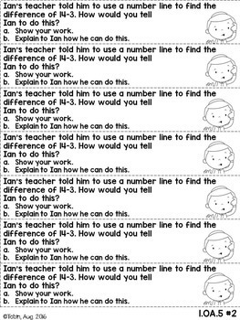 1st Grade Math Short Answer Word Problems- Operations and Algebraic Thinking OA
