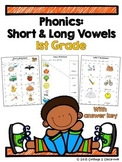 1st Grade Short and Long Vowel Sound Practice