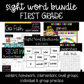 1st Grade Sight Word Activity MEGA BUNDLE!! {Fry's 1st 100 Words}