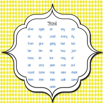 1st Grade Sight Word Activity Pages (Word Work)