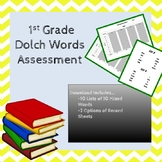 1st Grade Dolch Sight Word Assessment Mixed by Level